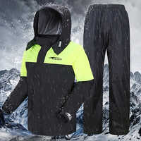 Moto lluvia abrigo con pantalones Impermeable al aire libre Impermeable hombre mujer ciclismo traje capa Impermeable Motociclista Raingear R5C147
