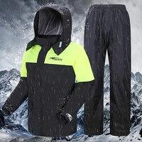 オートバイレインコートとパンツ防水屋外レインコート男性女性サイクリングスーツ岬不浸透性 Motociclista Raingear R5C147 -