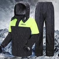 Motorcycle Rain Coat with Pants Waterproof Outdoor Raincoat Men Women Cycling Suit Cape Impermeable Motociclista Raingear R5C147