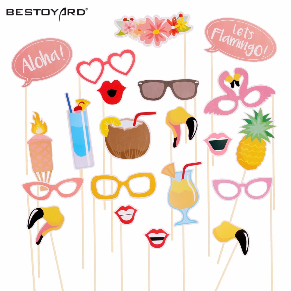 90s Party Photo Booth Props Luoem Funny Birthday Party Photo Props