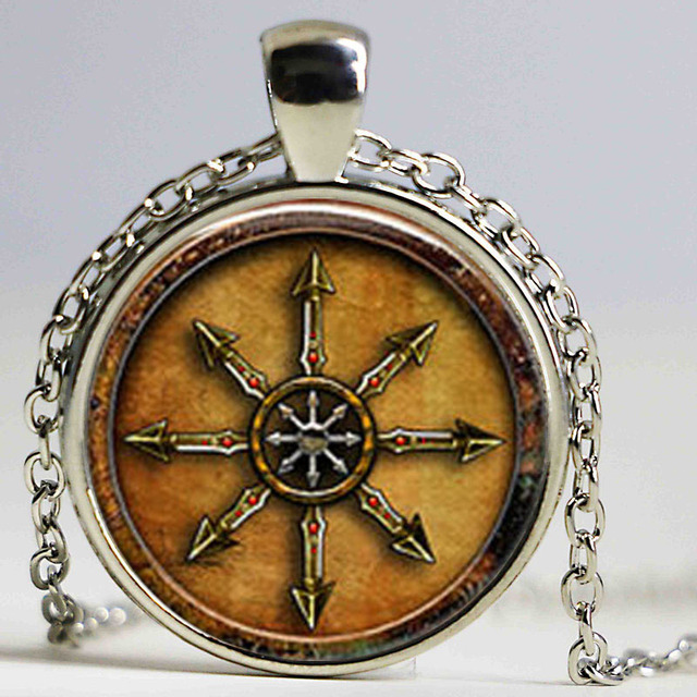 US $1 94 35% OFF|1 star unids chaos magick or chaos crystal necklace  jewelry Cabochon-in Pendant Necklaces from Jewelry & Accessories on