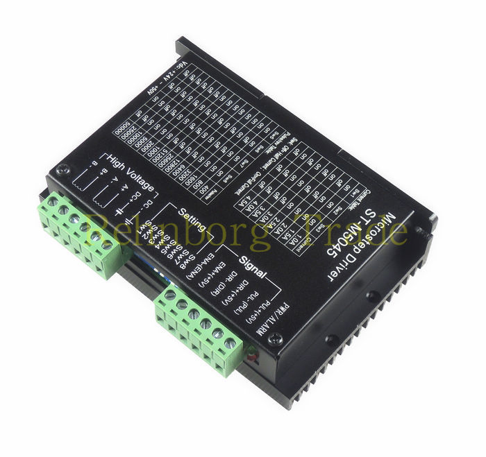CNC 24-50VDC Name23 Stepper Motor Driver ST-M5045 2phase 4.5A 256 Subdivision replace M542,2M542 Stepper Motor Driver 20 50vdc 256 subdivision cnc micro stepping name23 dm542 stepper motor driver 2phase 4 2a st dm542
