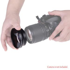 Image 5 - 67mm cyfrowy o wysokiej rozdzielczości 0.43x super szeroki kąt obiektyw do modeli canon Rebel T5i T4i T3i 18 135mm 17 85mm dla Nikon 18 105 70 300VR