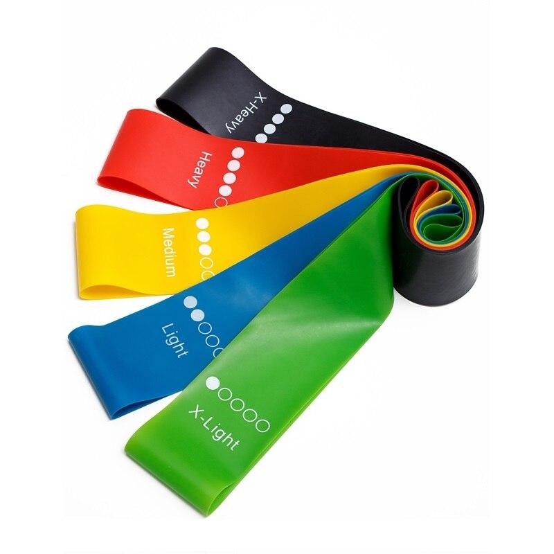 Yoga Resistance Rubber Bands Indoor Outdoor Fitness Equipment 0.35mm-1.1mm Pilates Sport Training Workout Elastic Bands