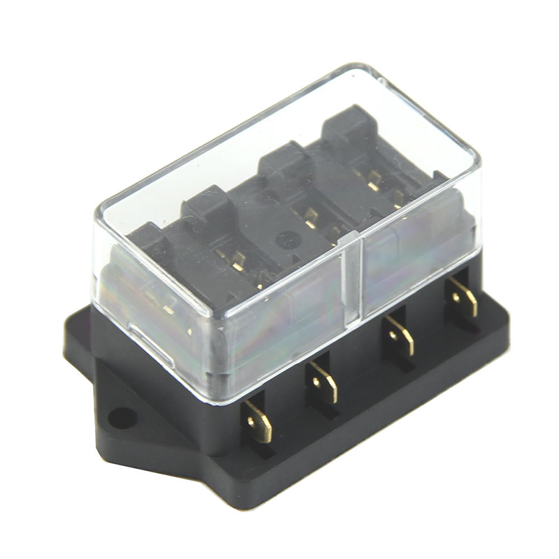 1pc 4 Way Circuit Standard Atc Blade Fuse Holder 250v