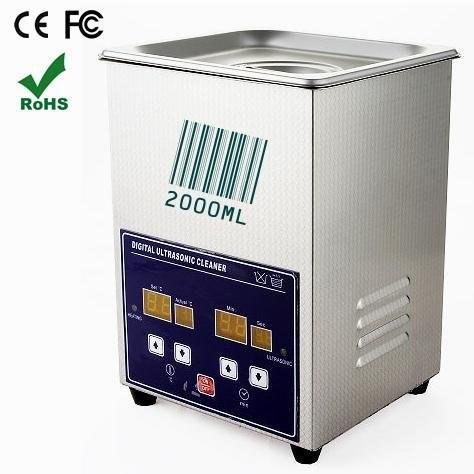 Temporizzazione digitale Display LCD Riscaldabile Piena In Acciaio Inox Ad Alta Potenza Pulitore Ad Ultrasuoni 2000 ml, 70 w. Jeken PS-10A