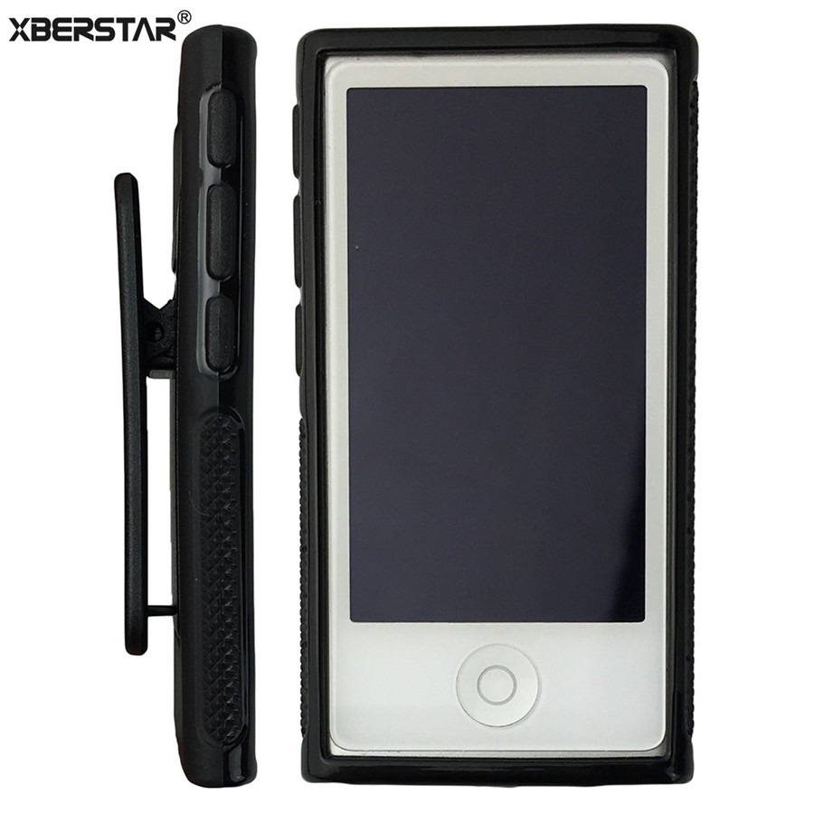 Soft TPU Rubber Skin Case Cover with Belt Clip for iPod Nano 7th Gen 7 7G ...