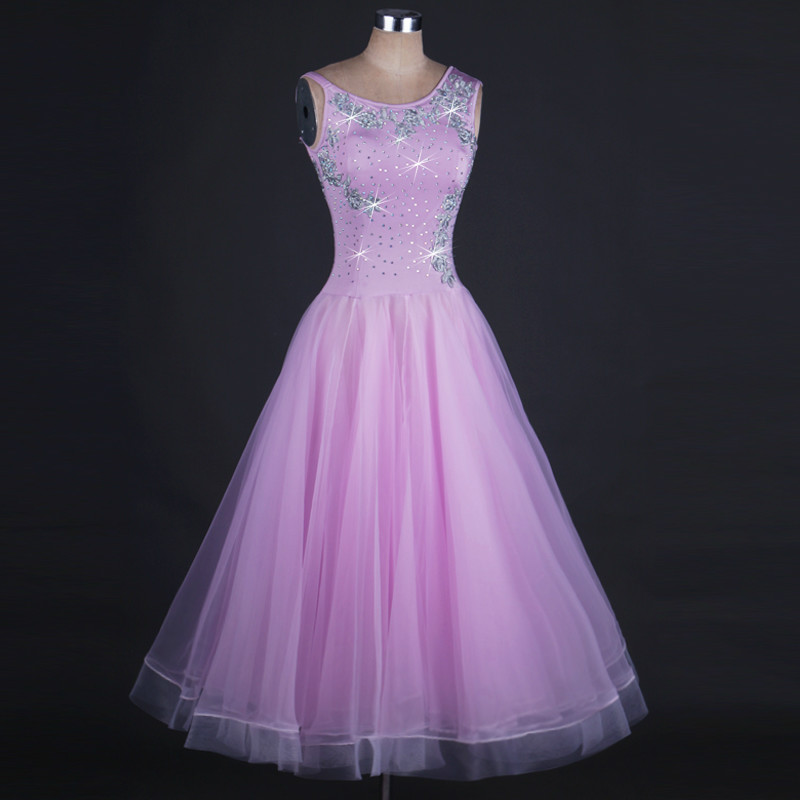 New Purple Modern Ballroom Dance Competition Skirt Social Performance Costumes National Dance Clothing Dance Big Dance Dress By Scientific Process