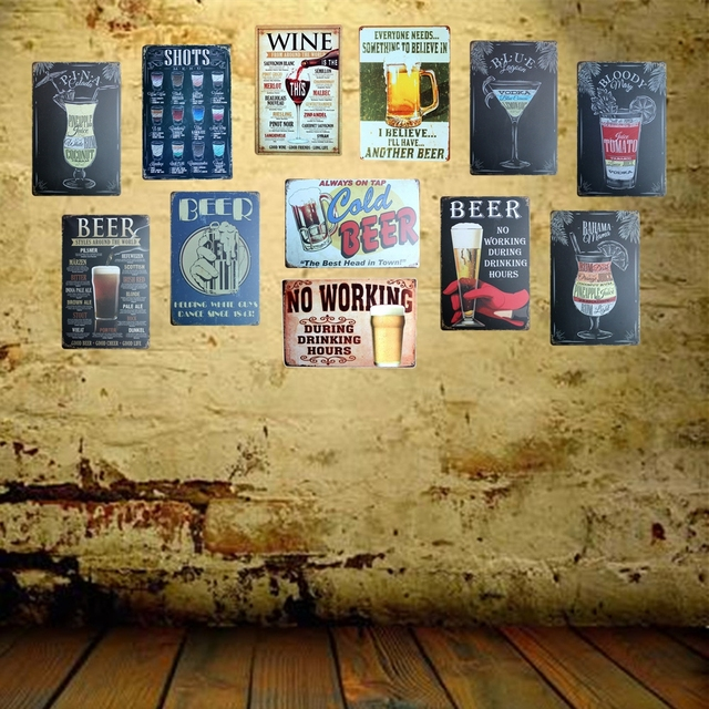 Mike86 ] I BELIVE I WILL HAVE ANOTHER BEER Metal Sign Retro Wall ...