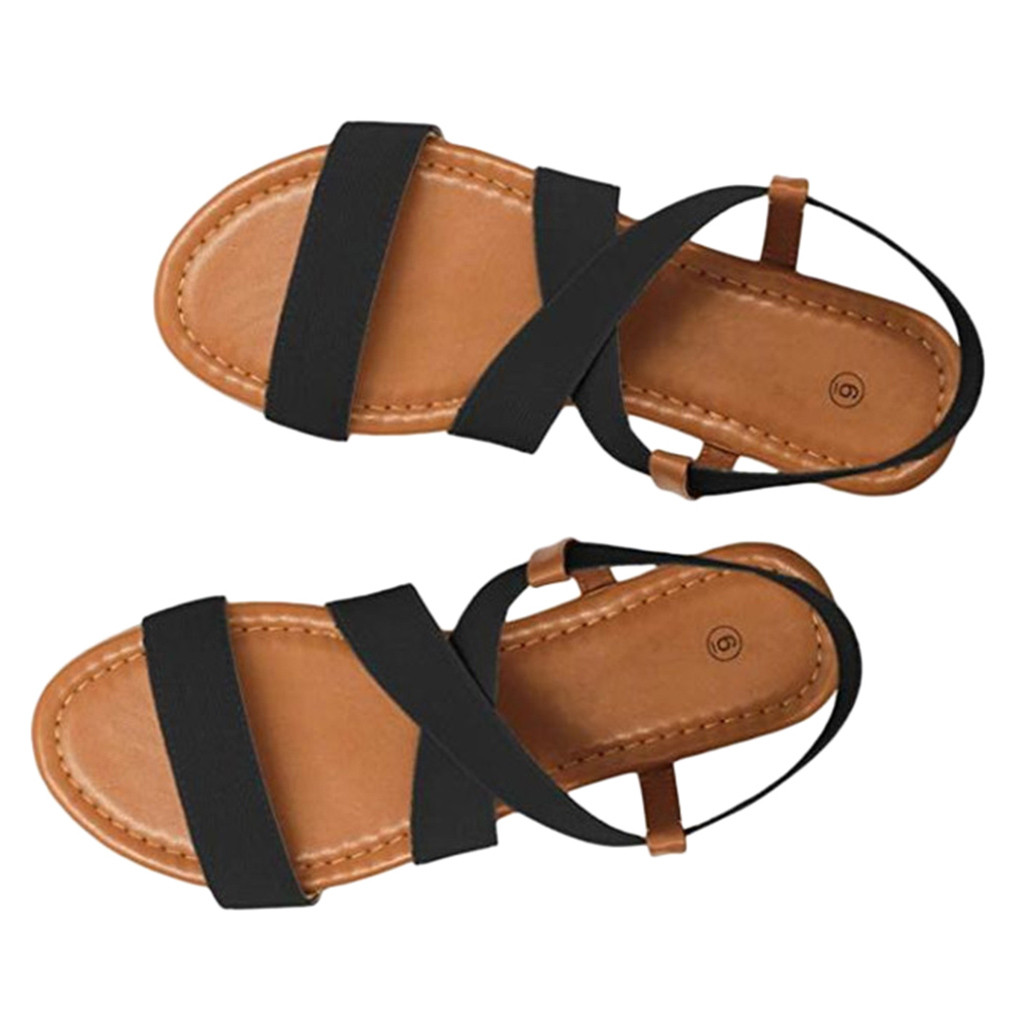 Women's Sandals Beach-Shoes Walking Summer Fashion Peep-Toe Spring Low-Heel Casual Anti-Skidding