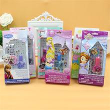 Disney Children's Makeup Toy Set Nail Sticker Children's Nail Polish Nonpoisonous and tasteless frozen sets girls princess