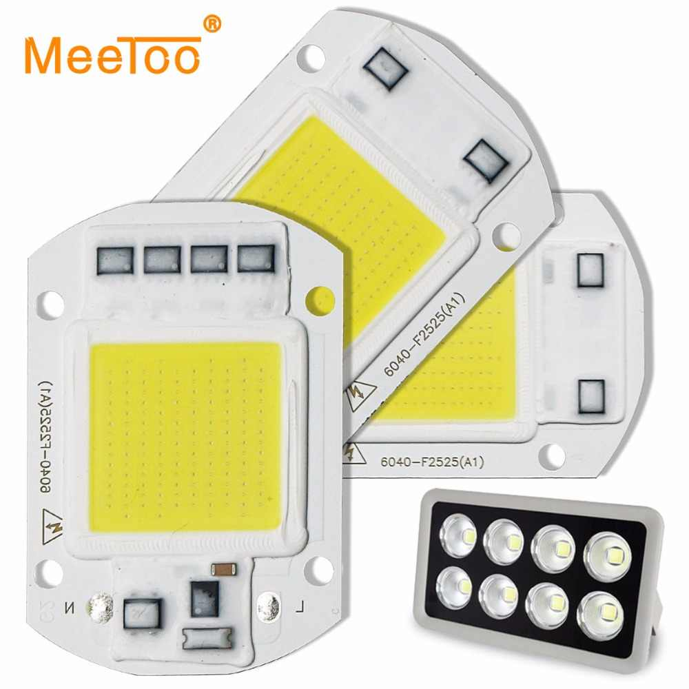 Smart IC LED COB Light Chip Lamp 220V 110V 50W 30W 20W 10W High Lumens for DIY Spotlight Floodight W / WW