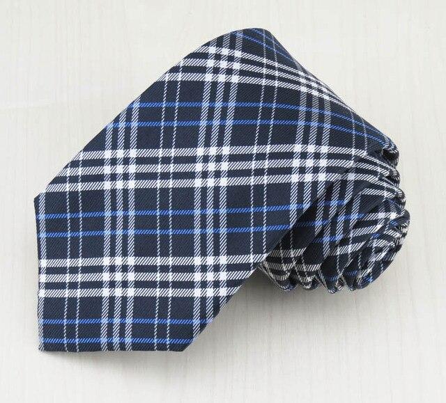 Мужская шелковый галстук/8 см в ширину/синий и белый Классический сетки дизайн/мужской полноценно формальная одежда галстук, бесплатная доставка