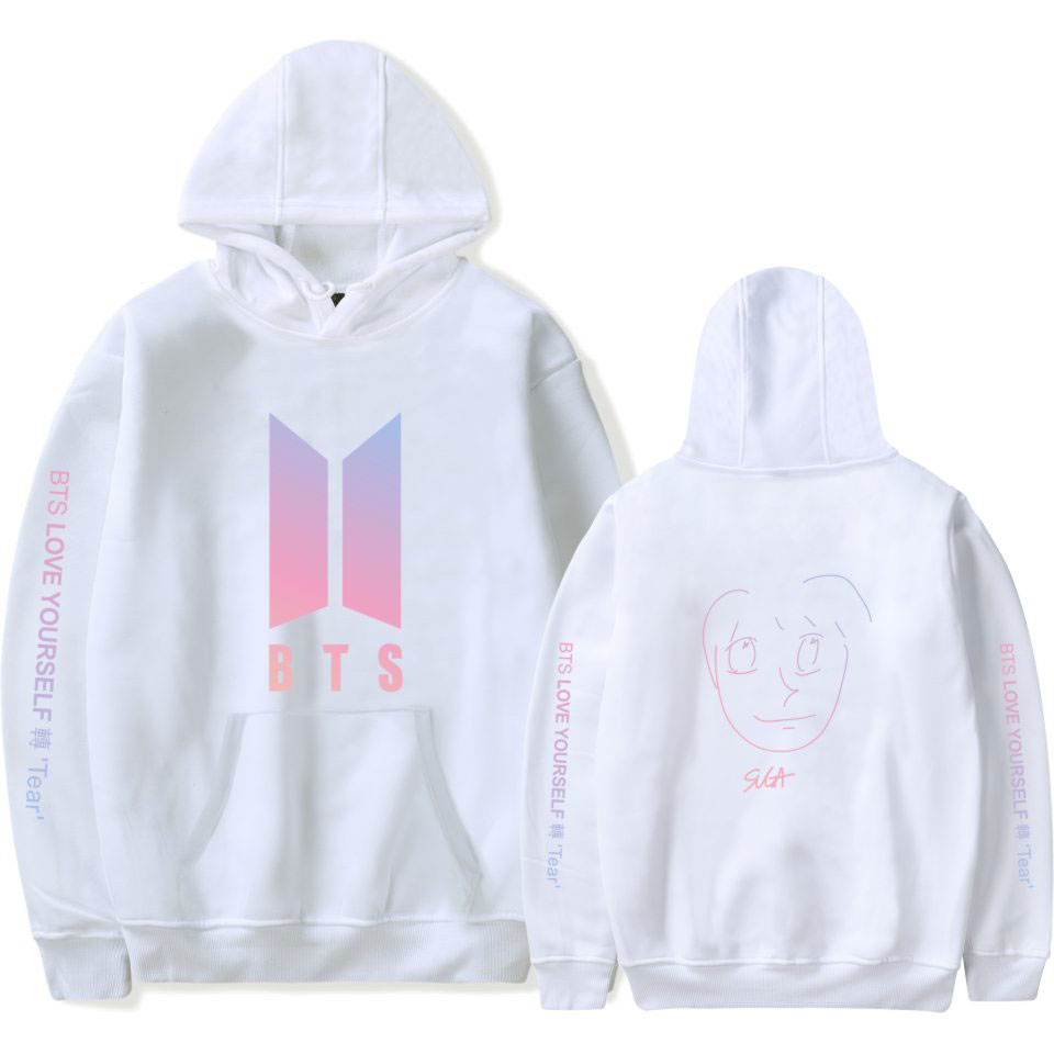 BTS face yourself Hoodies Sweatshirt Fashion Autumn And Winter 2018 New Casual Sweatshirt Women/Men Hooded Colorful bts Clothes