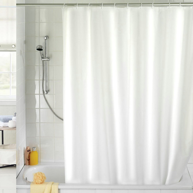 NEW!!!180x180cm Solid Color Waterproof Shower Curtain Mold Resistant ...