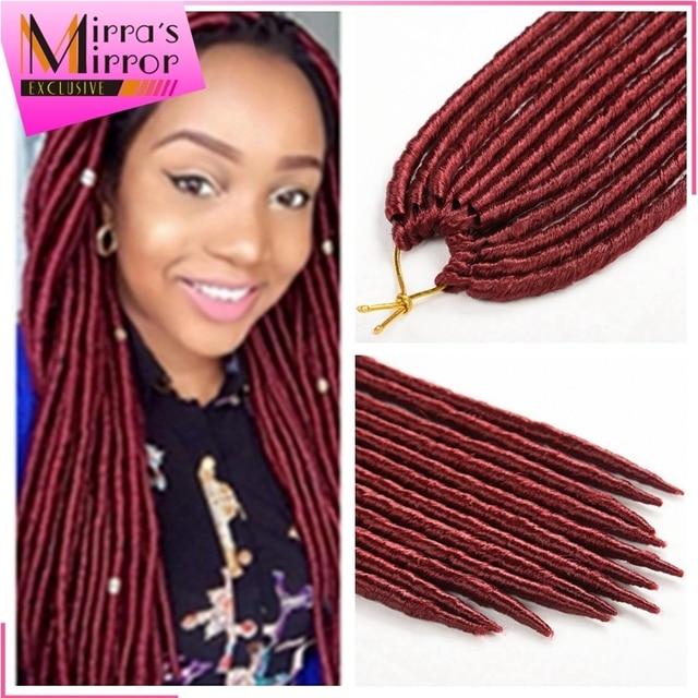 Janet Collection 2x Havana Mambo Faux Locs Crochet Dreadlock Hair Extensions Kanekalon Synthetic