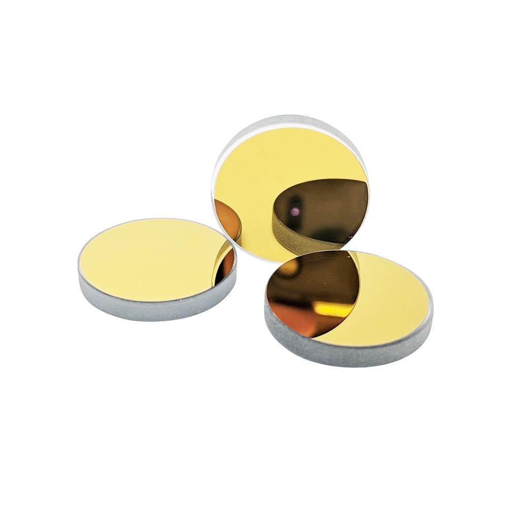 TEH-HIGH K9 Reflection Mirrors 3 Pieces Diameter 20mm K9 Gold-Plated Reflection Lens for CO2 Laser Cutting Engraving Machine.