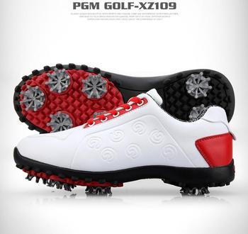 2019 new! Golf shoes ladies waterproof shoes soft microfiber material