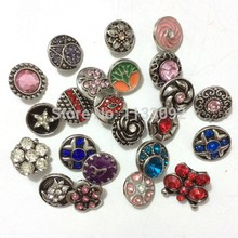 free shipping wholesale 12mm small 50pcs/lot mix styles colors  button snap jewelry interchangeable ginger snap button charm все цены