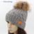 GZHilovingL Mujeres de Lana de Diseño de Invierno Gorros Sombreros Con Pompón De Piel Real de Las Mujeres de Las Señoras Grueso Fleece Cálido Invierno de Punto Capo Casquillo
