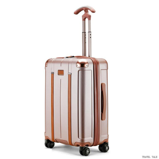 "TRAVEL TALE new men and women spinner 20"" trolley suitcase 24"" abs rolling luggage bags for traveling 3"