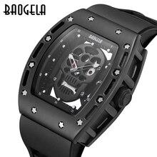 BAOGELA Мужчины Часы мода Новые Luxury Brand Полые силикагель часы Мужские Случайные Спортивные Часы Мужчины Lumin Наручные Кварцевые спорт часы