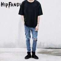 HIOFANDI Hochwertige Mode Für Männer Hosen Overall Städtischen Rock Star Distressed Dünne Designer Reißverschluss Zerrissene Gebrochen Loch Jeans