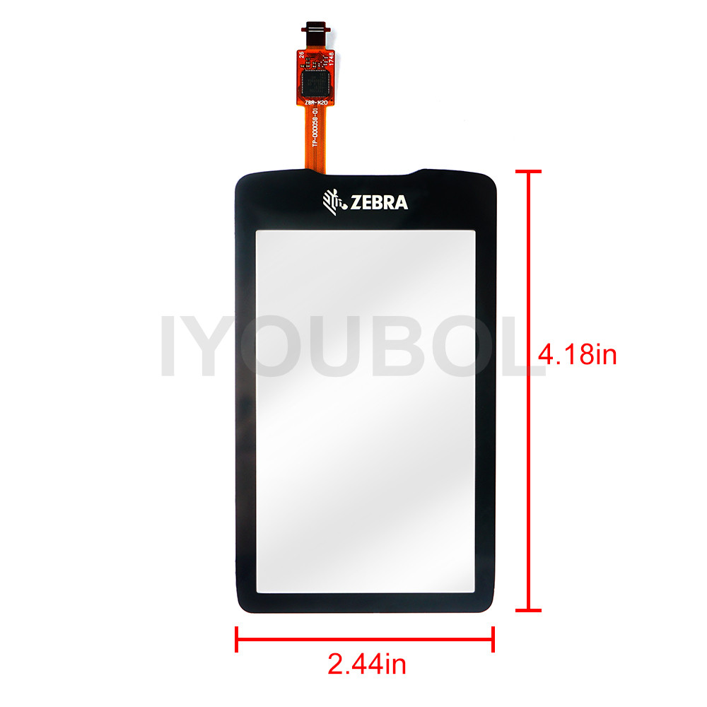 New Touch Screen Digitizer for zebra MC3300 Touch Panel Digitizer glass lens pane LCD Modules taller tr 1412