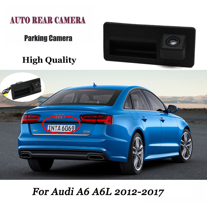 Consumer Electronics Car Rear View Camera For Audi A3 A4 A6l S5 Q7 Auto Trunk Handle Backup Camera Rapid Heat Dissipation Car Video