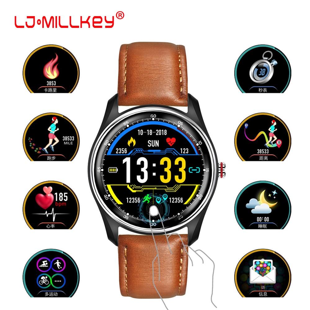 New ECG PPG Smart Watch Men IP68 Waterproof Color Screen Heart Rate Boold Pressure Monitor Call Drink Reminder Bracelet Men|Smart Wristbands| |  - title=