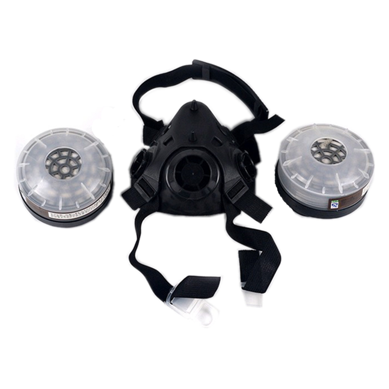 NEW Respirator Gas Mask Filter Cotton Chemical Respirator Workplace Safety Industrial Paint Spraying Protective Mask new safurance protection filter dual gas mask chemical gas anti dust paint respirator face mask with goggles workplace safety