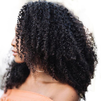 Afro Kinky Curly Hair Clip In Human Hair Extensions 4B 4C 100% Human Natural Hair Clip Ins Brazilian Remy Hair Comingbuy