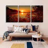 Oil Painting By Number Lake Sunset Landscape Decoration Painting Home Decor On Canvas Modern Wall Picture