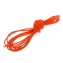 Высокопрочный 3 мм x 5 метров оранжевый сильный эластичный амортизирующий трос ударный шнур завязывается вниз для кемпинга Пешие прогулки лодки каяки караваны DIY
