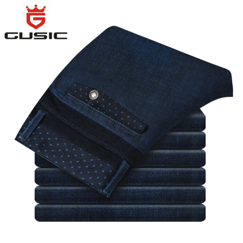 2017 New Mens Plus Size Jeans Brand Gusic Big Size Jeans Casual Pants Denim Slim Fit Trousers For Man Size(28-44) полка new brand 3pcs 20 30 slim fit ts079