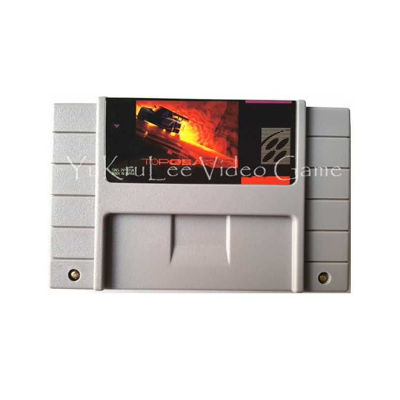 Top Gear 2 Video Game Accessories Memory Cartridge Card for Super Entertainment System US NTSC Console S016