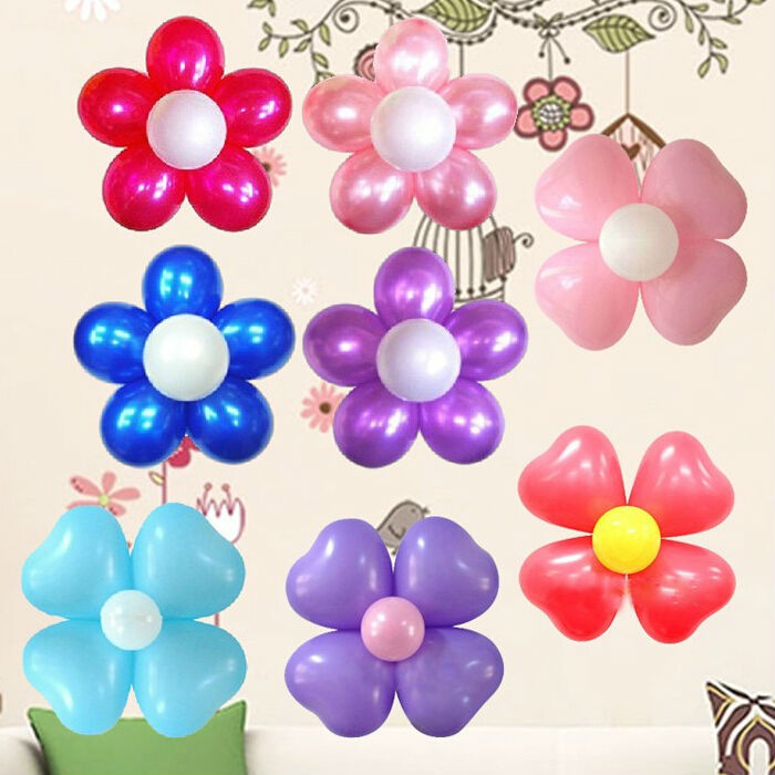 10pcs 6 in 1 Seal Clip Ballons Accessories Plum Flower Clip Sealing Clamp  HGyu