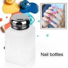 200ML Pump Dispenser Alcohol Polish Makeup Cleanser Liquid Remover Cleaner Empty Nail