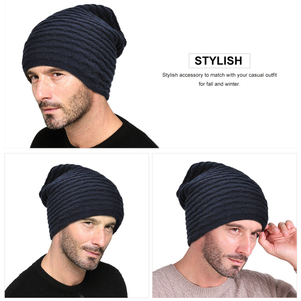 VBIGER Men Women Winter Warm Knitted Hat Winter Slouchy   Skullies     Beanies   Slouch Cap Hat Thickened Brushed Lining Skiing Hat