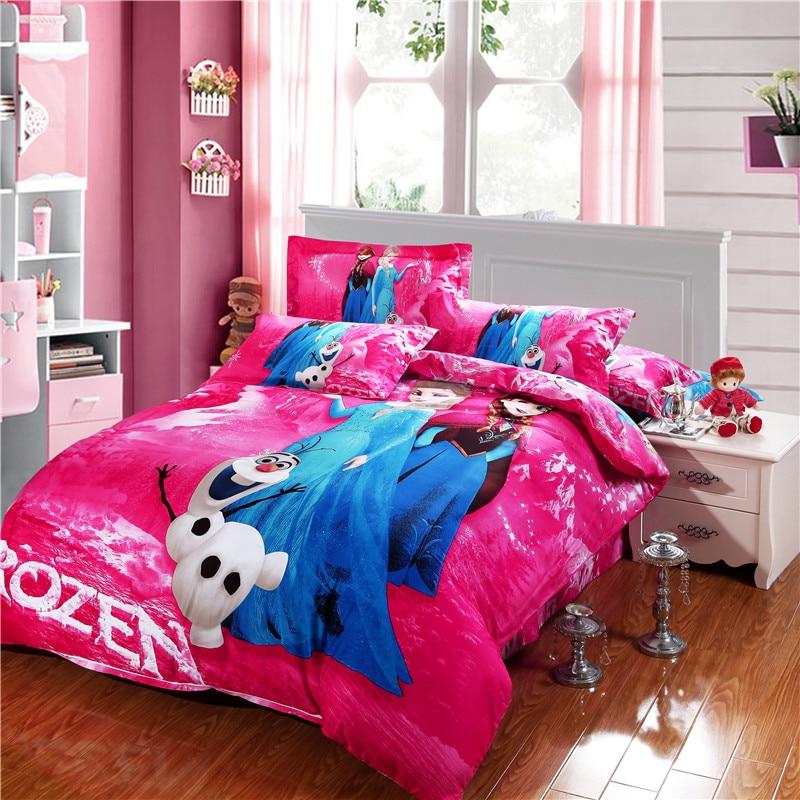 Cheap Bedroom Sets Kids Elsa From Frozen For Girls Toddler: Frozen Elsa And Anna Bedding Sets DISNEY Cartoon Bedspread