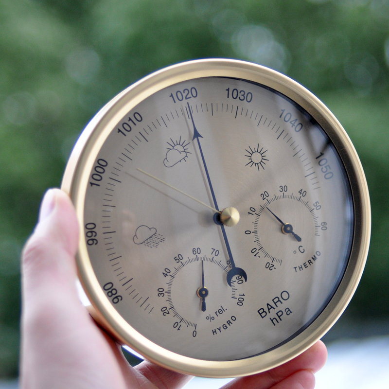 3 In 1 Wettervorhersage Barometer Temperatur Luftfeuchtigkeit Haus