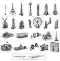 3D головоломки Известные Здания 3d металлические головоломки детские игрушки подарок для детей и взрослых против металл земля развивающие игрушки