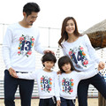 2017 Hot Sale Fall Winter Mother Father Baby Cotton Long Sleeve Sweatshirts Boy Girl Thicken T-shirts family matching clothes