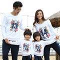 2017 Venta Caliente Otoño Invierno Padre Madre Del Bebé de Algodón de Manga Larga Sudaderas Niño Niña ropa Espesan las Camisetas a juego de la familia