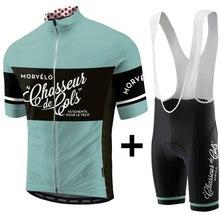 Nieuwe Morvelo Zomer Fietsen Kleding 2019 Wielerkleding Kits Korte Mouw Bib Shorts Heren Zomer Maillot Ciclismo Sets