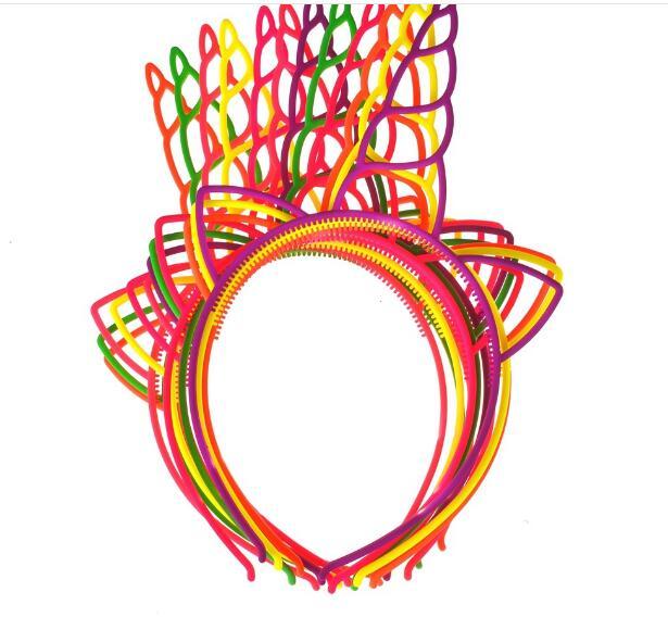 96pcs/lot european style Unicorn Headbands Cat Ear Hairbands Children Party Hairband Plastic ABS Headband Birthday gift