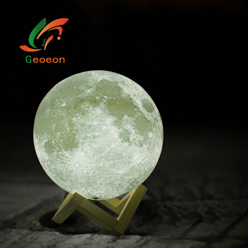 Geoeon Rechargeable 3D Print Moon lamp 2 Colors Touch Switch Change Night light Creative Gift 8cm 10cm 13cm 15cm 18cm 20cm D501Geoeon Rechargeable 3D Print Moon lamp 2 Colors Touch Switch Change Night light Creative Gift 8cm 10cm 13cm 15cm 18cm 20cm D501