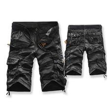 Cargo Shorts Brand Fashion Mens Bermuda Short Men Homme Casual Cargo Beach Shorts Men Summer Beachwear