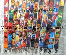 Free shipping 20 Pcs /Wholesale lot Mix Japanese anime Dragon Ball z Necklace Strap Lanyards Cell  Key Chains  HB91