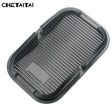 Chetaitai Car Phone Anti-Skid Pad PVC Phone Non-Slip Mats Mobile Phone PU Storage Box Phone Holder Pad Car Accessories